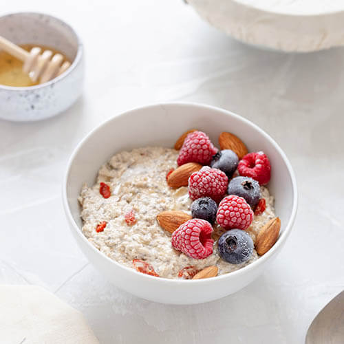 you can add protein powder to your oatmeal
